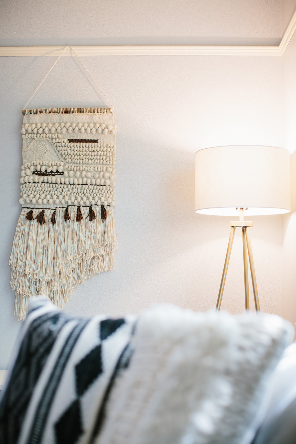 Woven Wall Hanging  +  Throw Pillow  from City Home