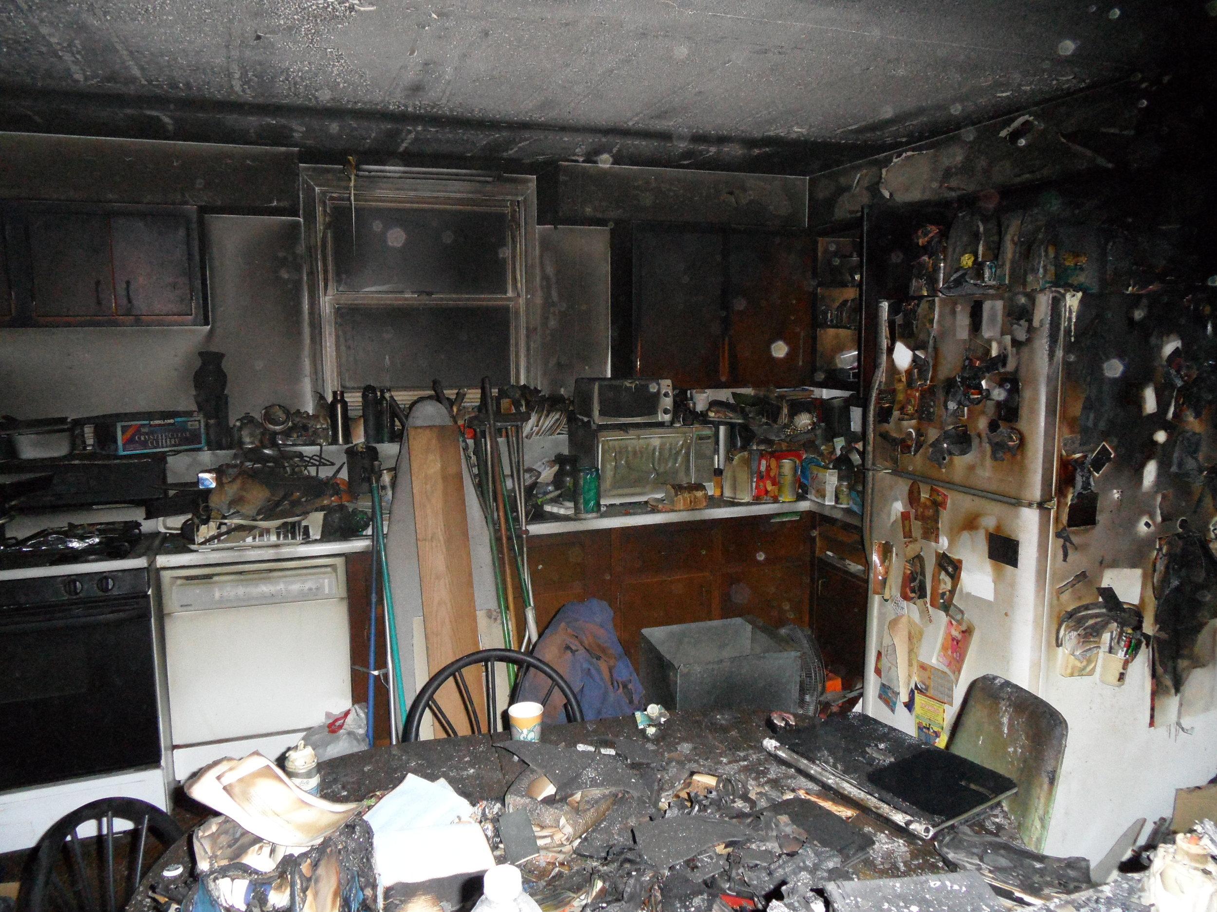 burned kitchen