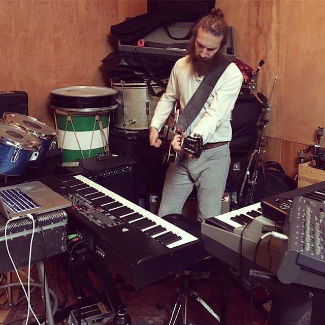 Rehearsing for our show at the @thesatellitela on Thursday night. I think we need more keyboards.