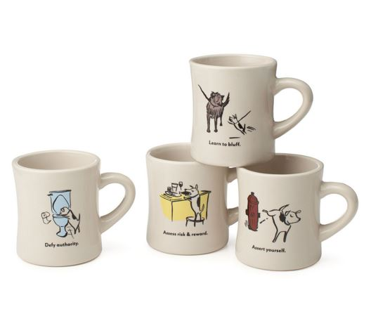 Bad Dog Wisdom Diner Mugs - Uncommon Goods.JPG