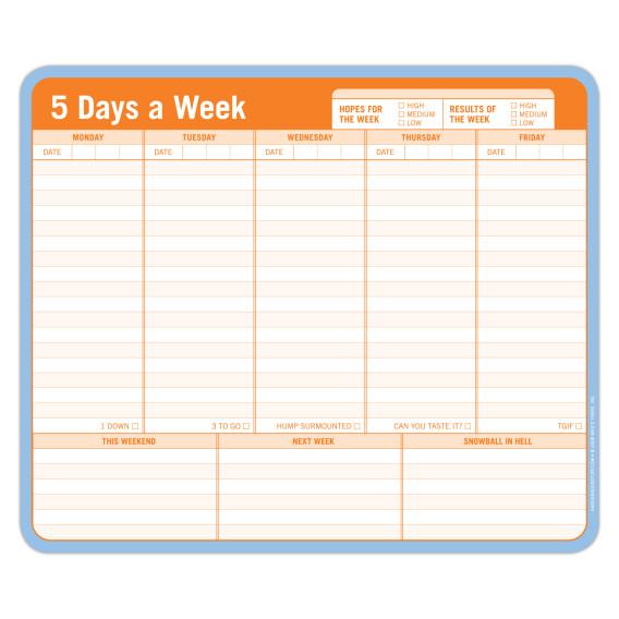 5 Days a Week Paper Mousepad - Knock Knock.jpg