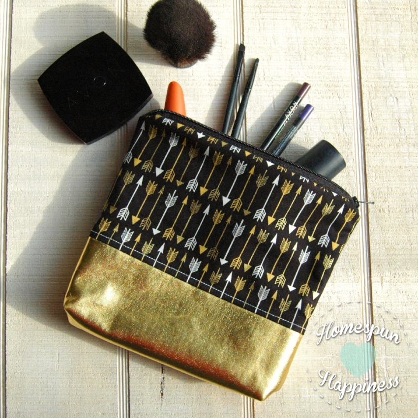 Gold and Silver Arrows - Gold Bottom Bag | Homespun Happiness ($21) LINK