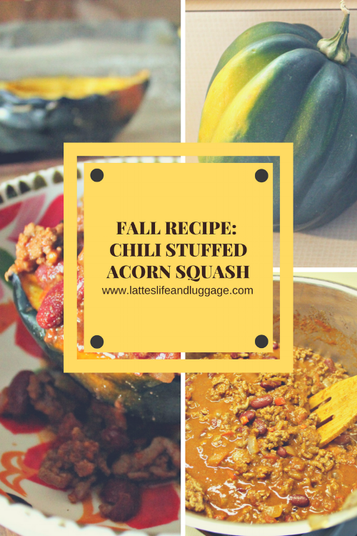 Chili Stuffed Acorn Squash