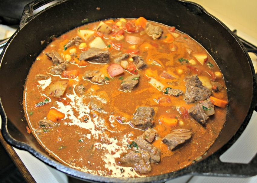 Stew with broth added