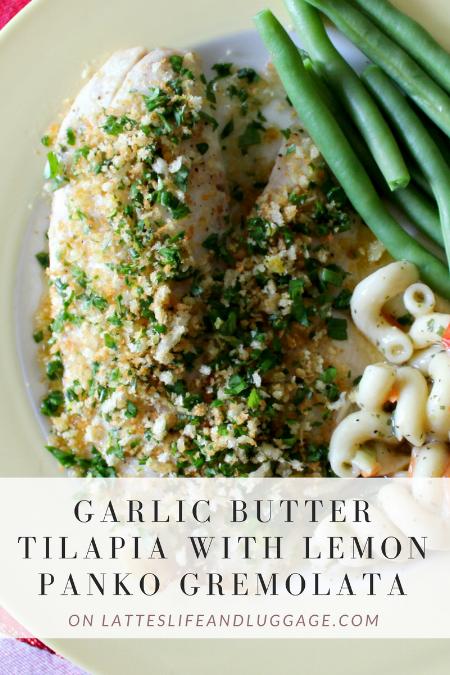 Garlic Butter Tilapia with Lemon Panko Gremolata