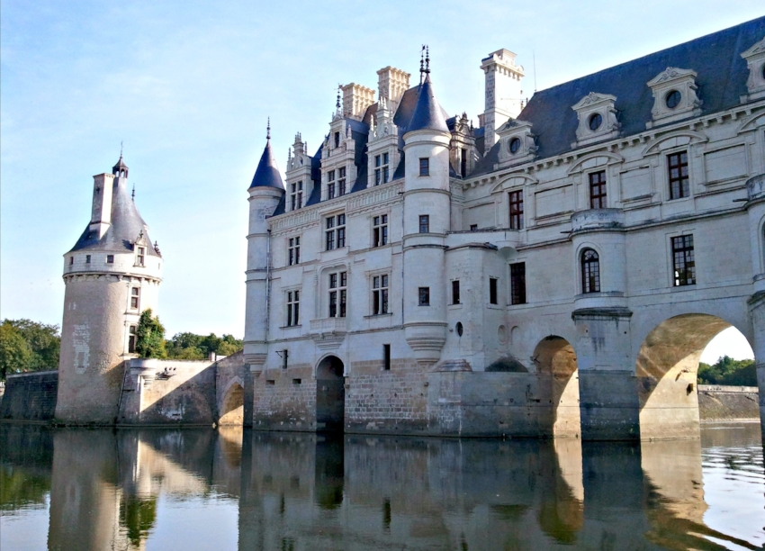 We took a sunrise boat tour on the river to see Chateau de Chenonceau in the Loire Valley while in France. The views were absolutely stunning and we got to tour the castle before the crowds descended.