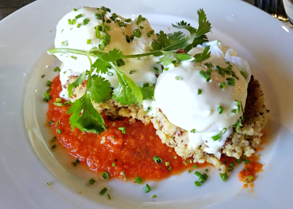 The Quinoa Cakes with Poached Eggs