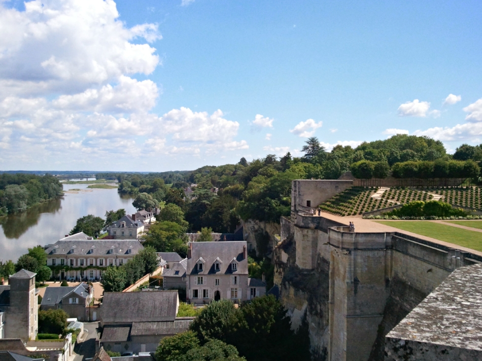 View from the gardens atop Château Royal d'Amboise