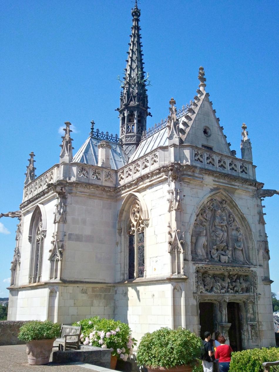 Saint Hubert's Chapel where Leonardo da Vinci was laid to rest atop Château Royal d'Amboise