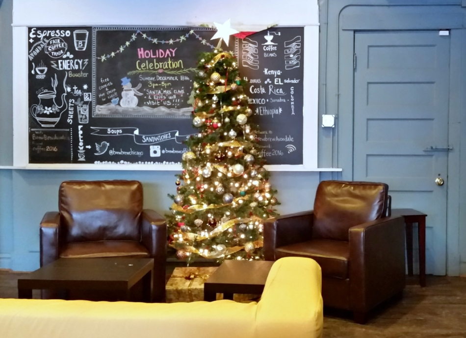 Christmas time at Brew Brew Coffee & Tea