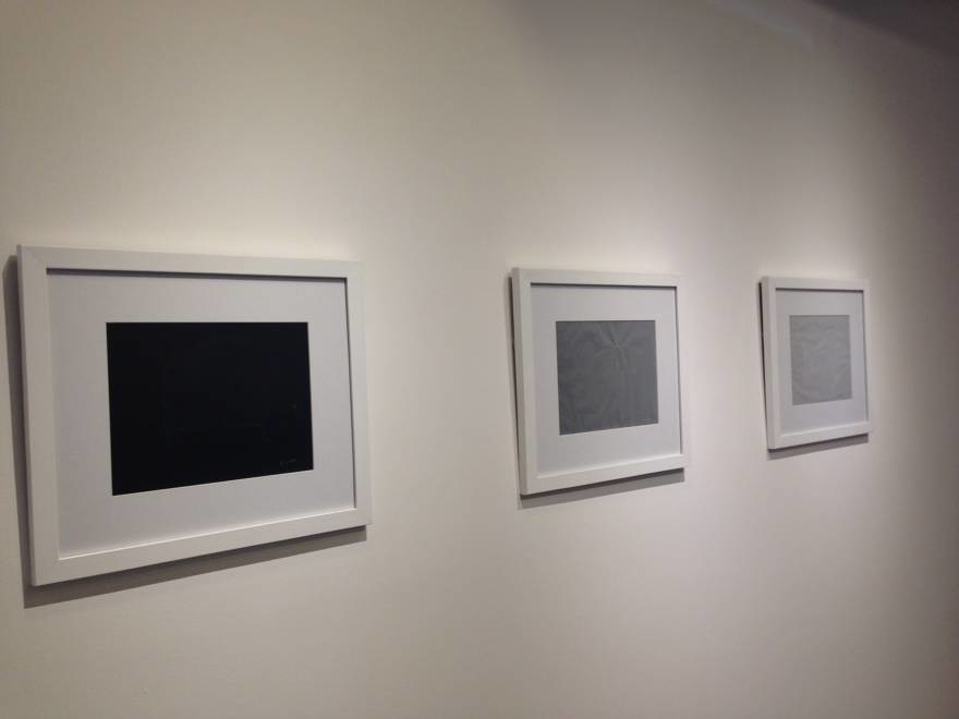 """""""chest"""" drawings  white pencil on mylar, gray and black paper  each unit: 13 x 13 in  2014"""