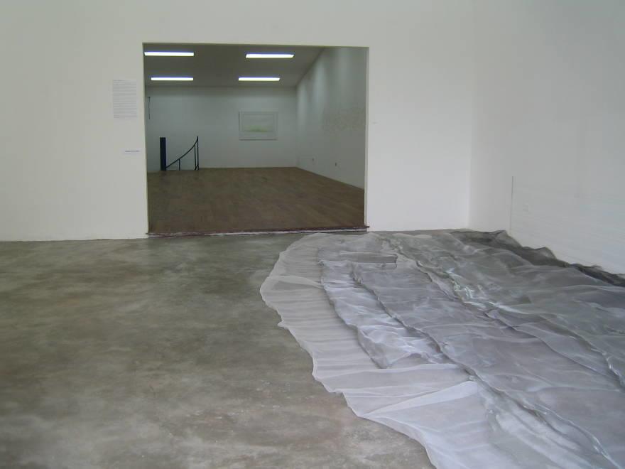 untitled site specifc floor installation (2) metallic mesh  dimensions variable  2009