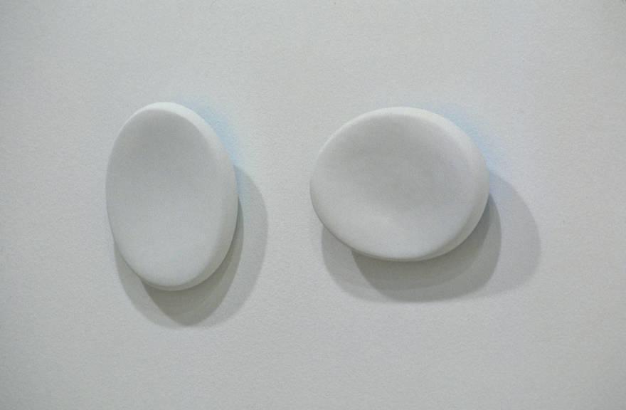 "Resonance, 2003   hydrostone, fiberglass, paint   10"" H x 8"" W x 3"" deep"