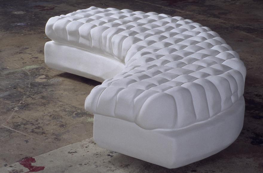 """Multi seat NUTOEP, 1997-98   fiberglass, hydrostone    2ft H x 8 ft L x 22"""" W"""