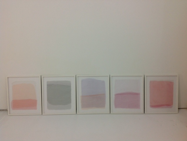 untitled polyptych (light studies) layered fabric and paper on wood  19.5 x 23.5 in  2014