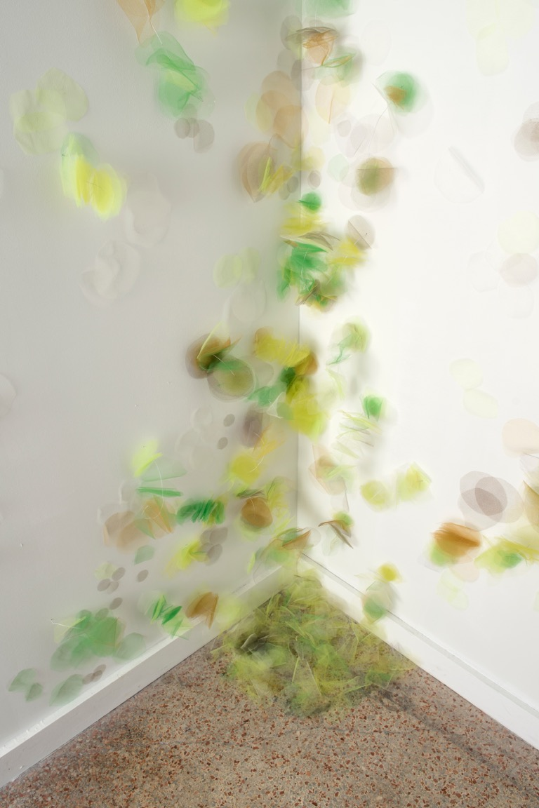 Untitled installation tulle fabric and wire  dimensions variable 015