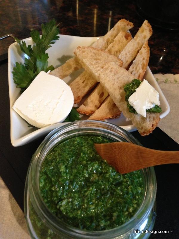 Amazing Green Herb Pesto yum!