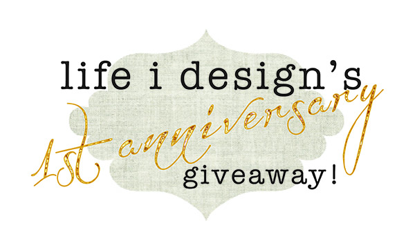Life I design anniversary giveaway