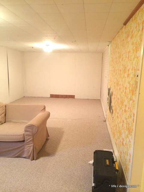 basement reno before