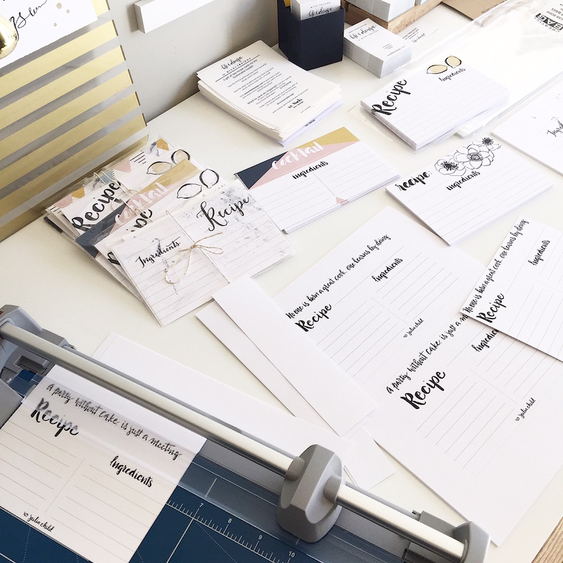 recipe cards by life i design