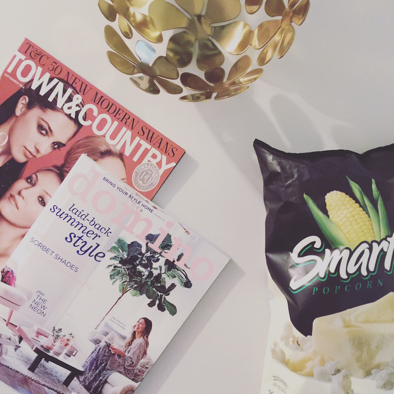 magazines and snacks with life i design