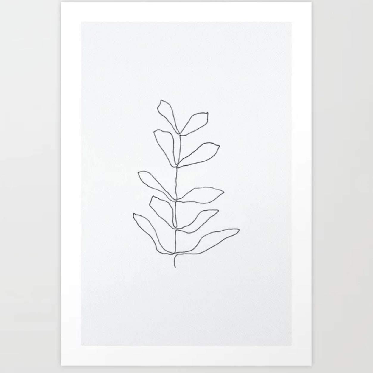 leaf line drawing poster by life i design.jpg