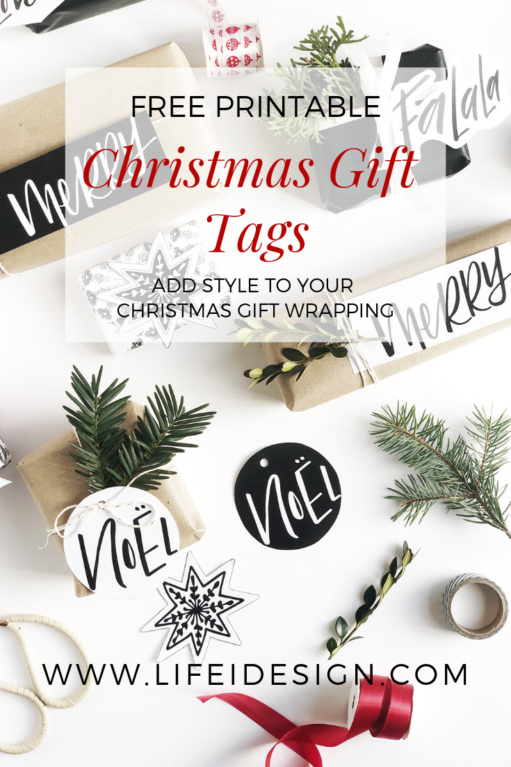 I hope you enjoy using these printable Christmas gift tags!