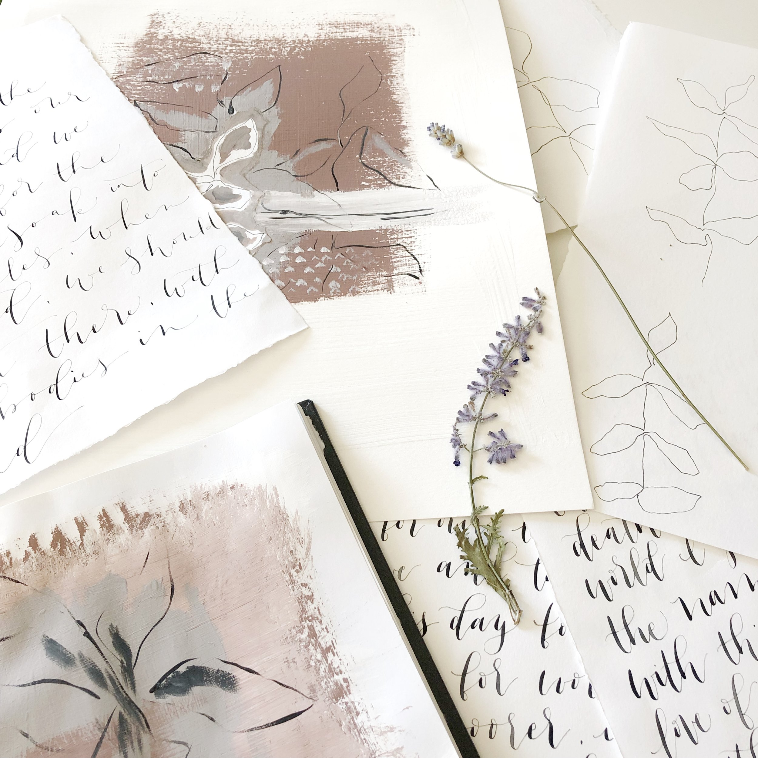 Using a dip pen and ink for drawing as well as calligraphy can be a great creative practice.