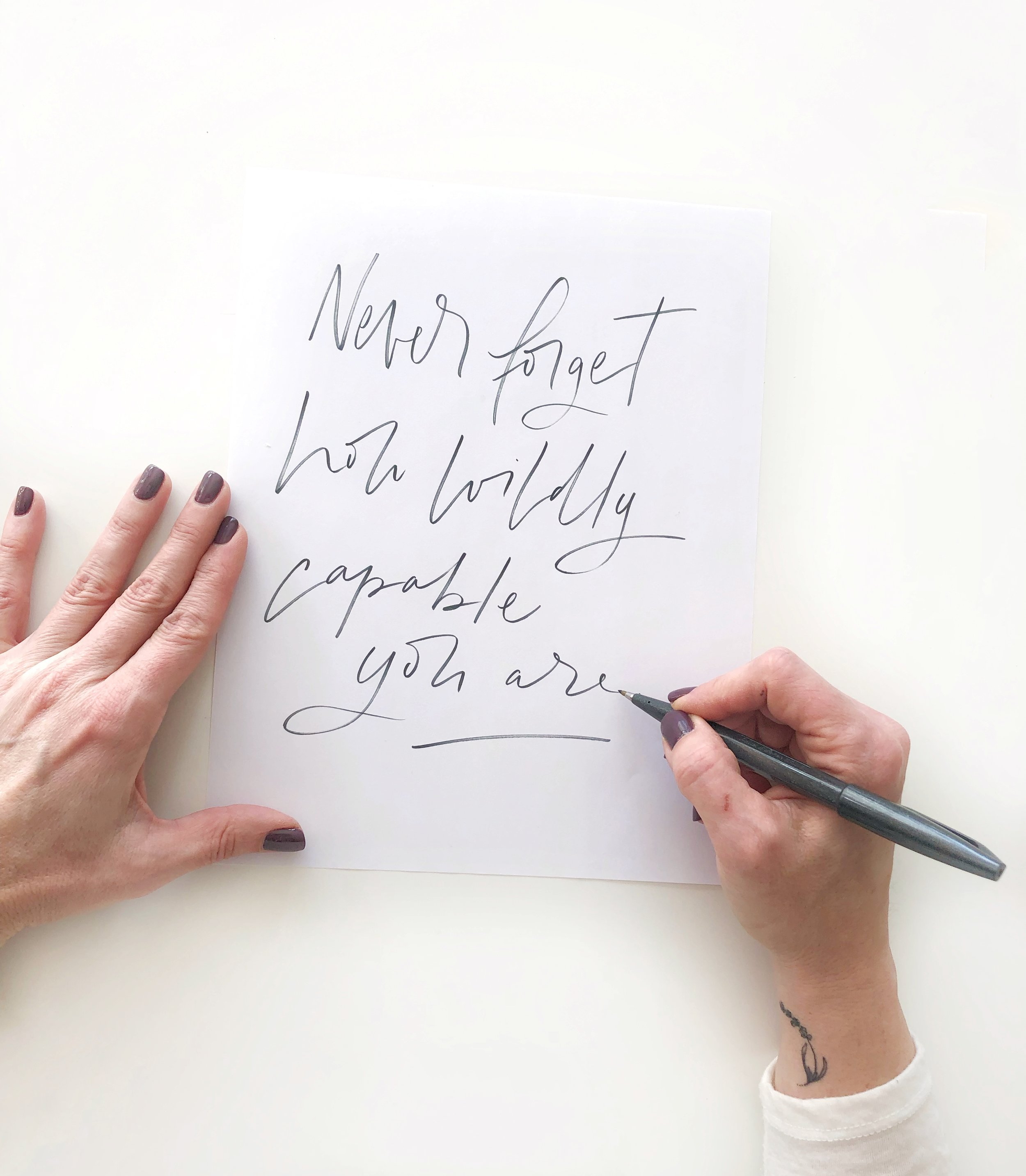 Pick a new quote and write it out for national handwriting day