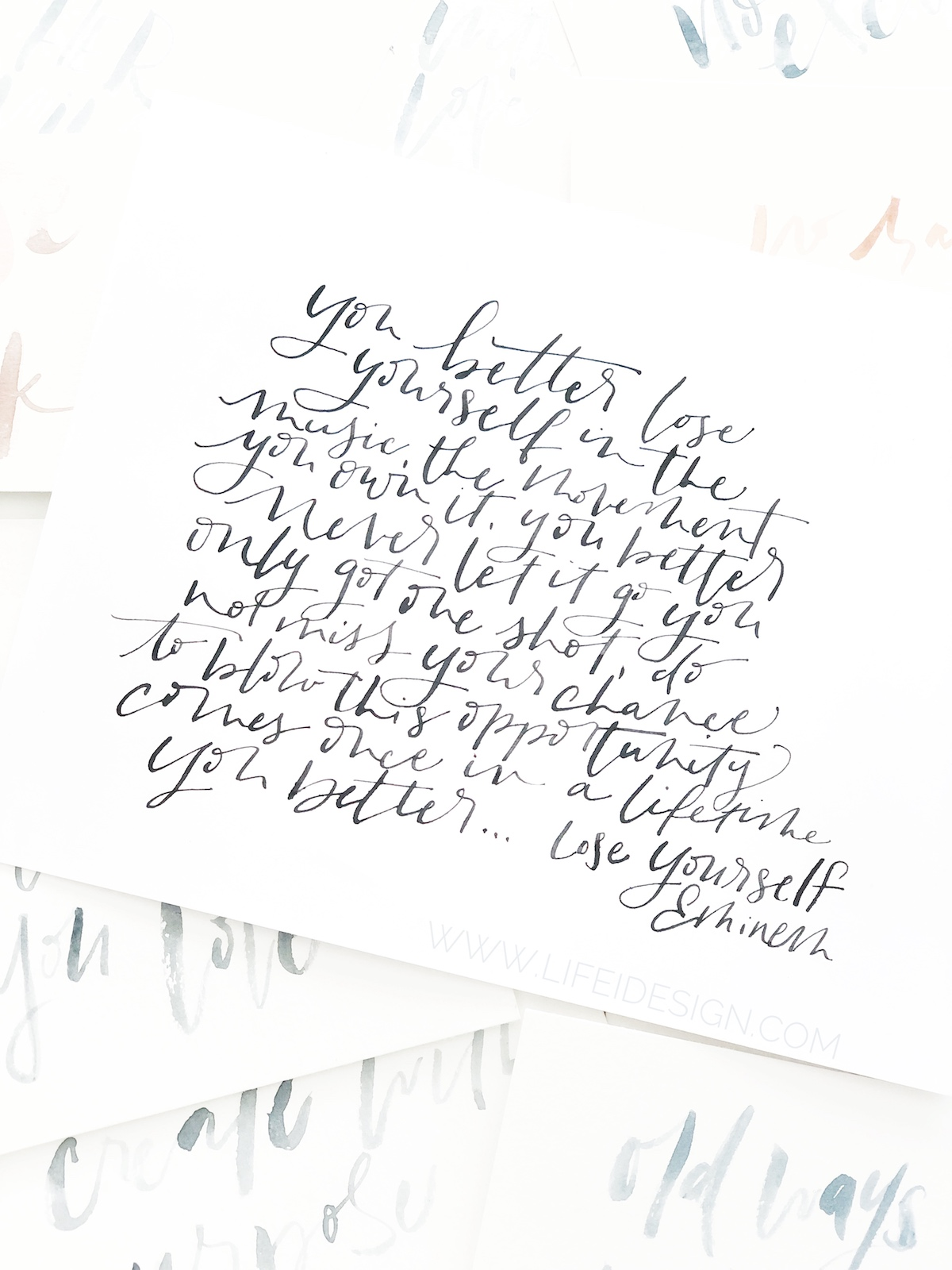 Write out some lyrics from a song that speaks to you to celebrate national handwriting day