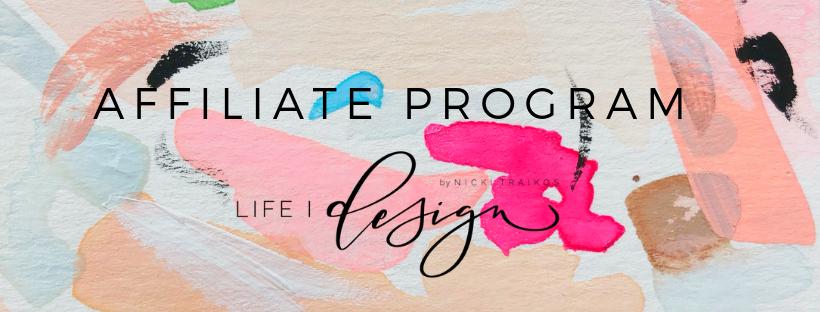 Welcome to life i design's affiliate program!