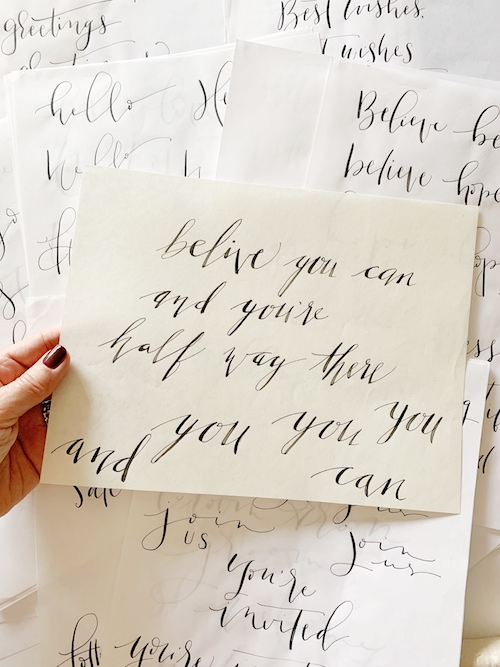my early calligraphy practice compared to my current calligraphy practice is amazing to see now when I look back at old work!