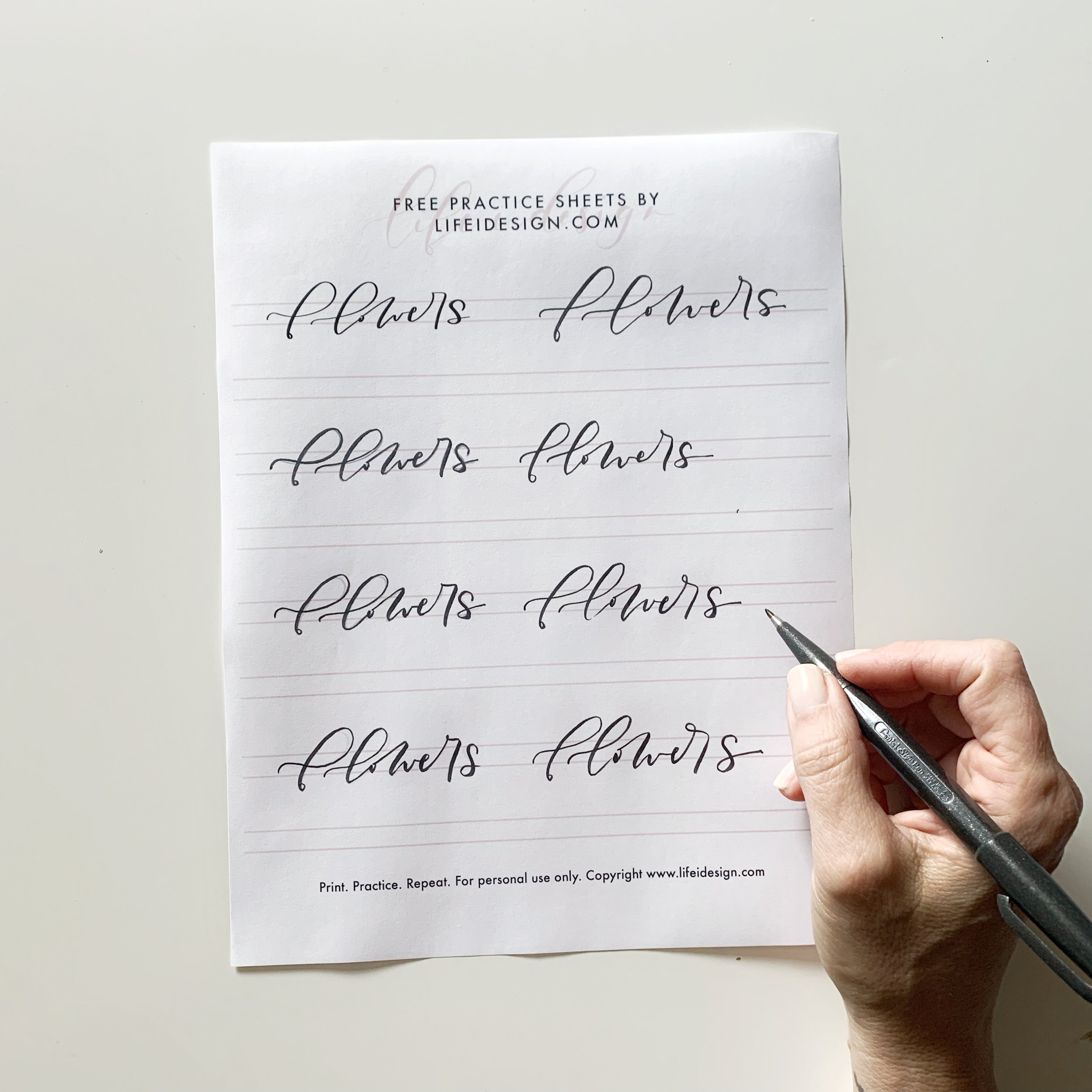 Get access to this practice sheet and more when you join the FREE Creative Library!