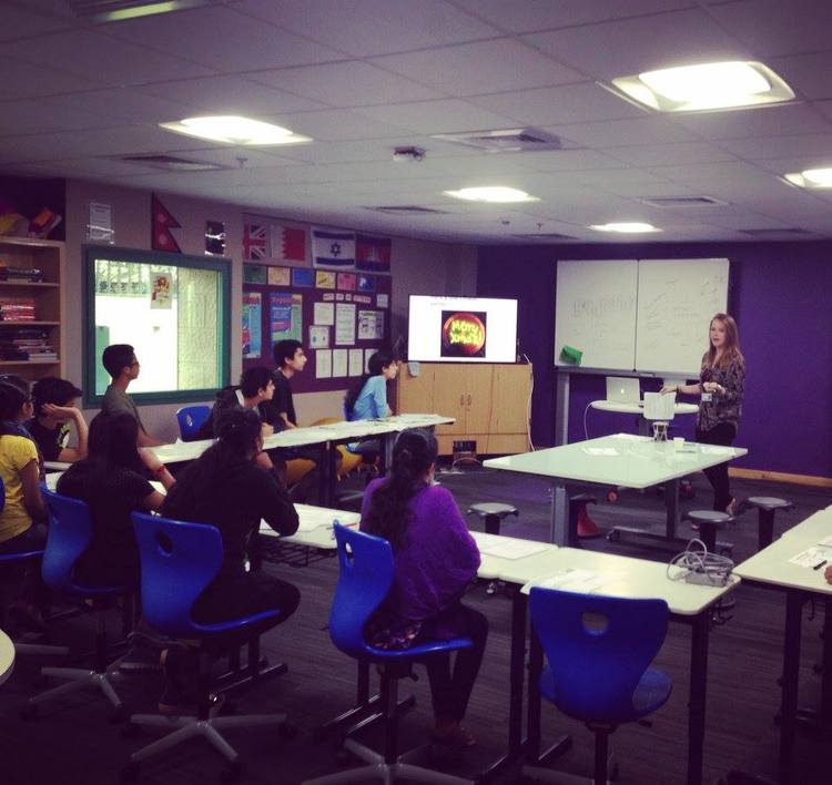 Giving a group of 11-17 year olds a workshop on the future of Science and Technology and how to solve world problems (Mumbai, India)