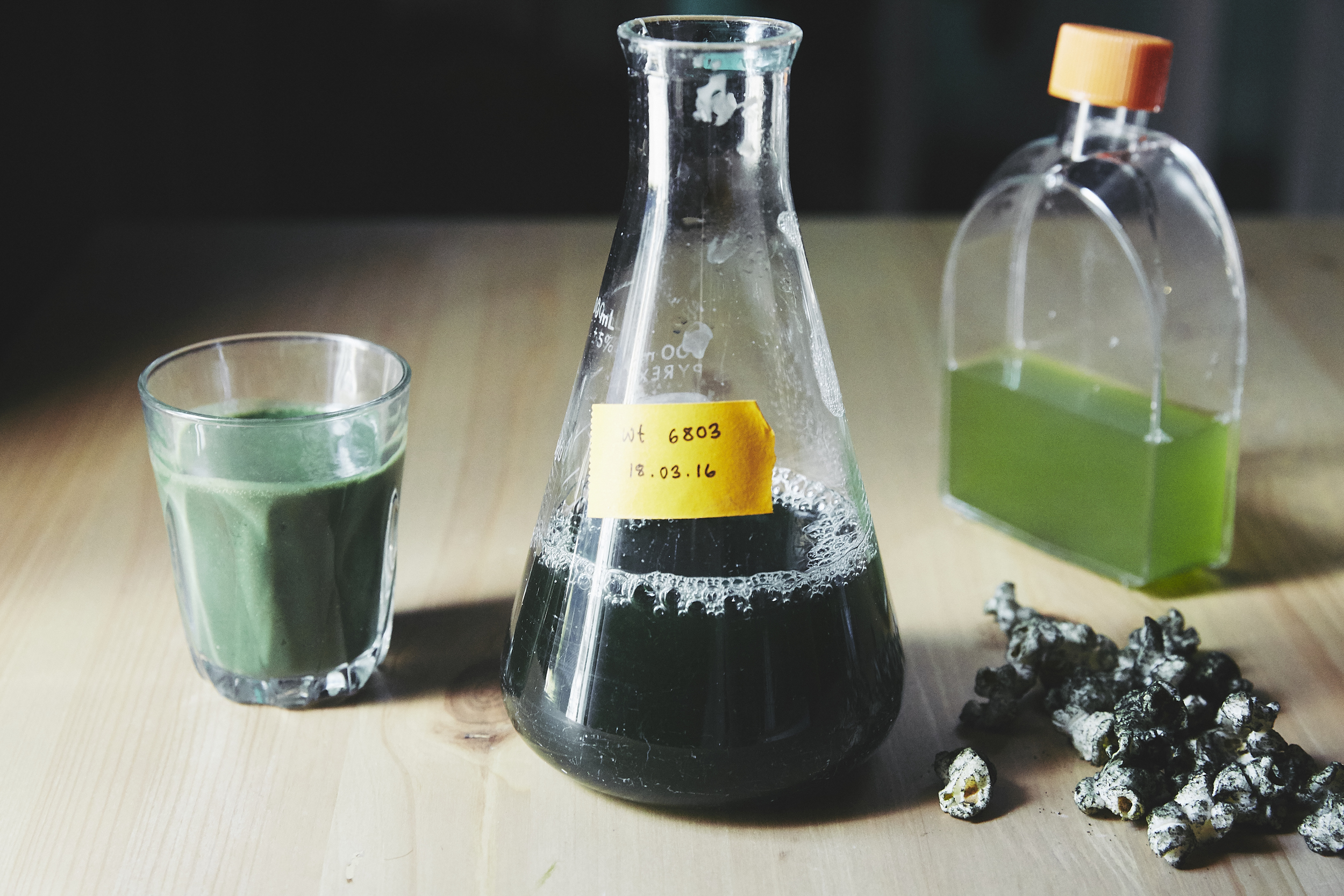 Some cues for the senses: visual, taste, smell - all ALGAE -to start to imagine what a completely different bioeconomy food future may feel like