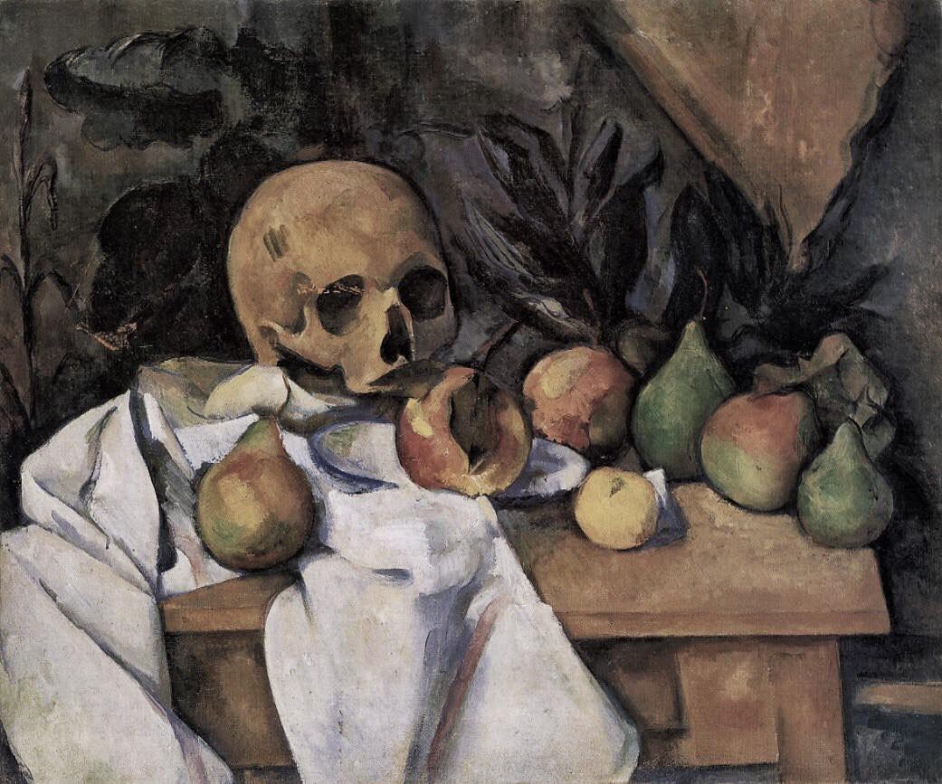 Paul Cézanne -  Nature morte au crâne