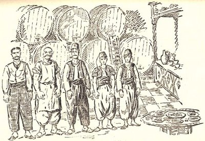 Lavirentos, Galata. (Çizim: Samiha Ayverdi, İstanbul Ansiklopedisi)