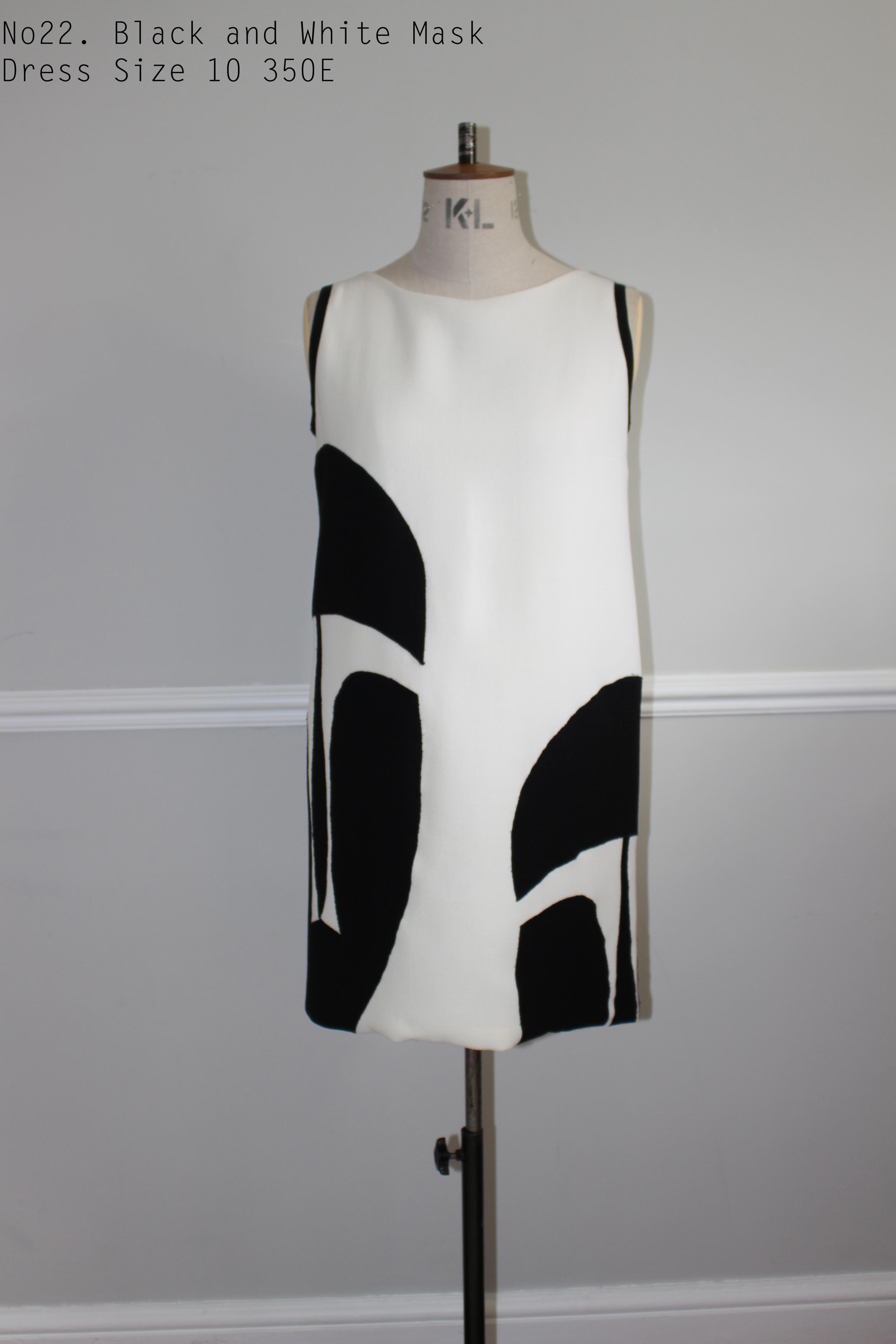 No22. Black and White Mask Dress Size 10 350E.jpg