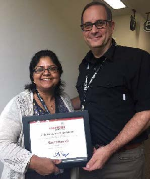 Yorktown August 2018 Co-Employee of the Month, Neena Bansal