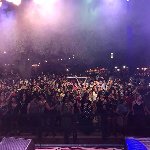 👀 My view from the stage. For some this is intimidating. For me...this is a sight I can't get enough of! 😊 #performance #singer #artist #california #crowd #night #show #flash #lights