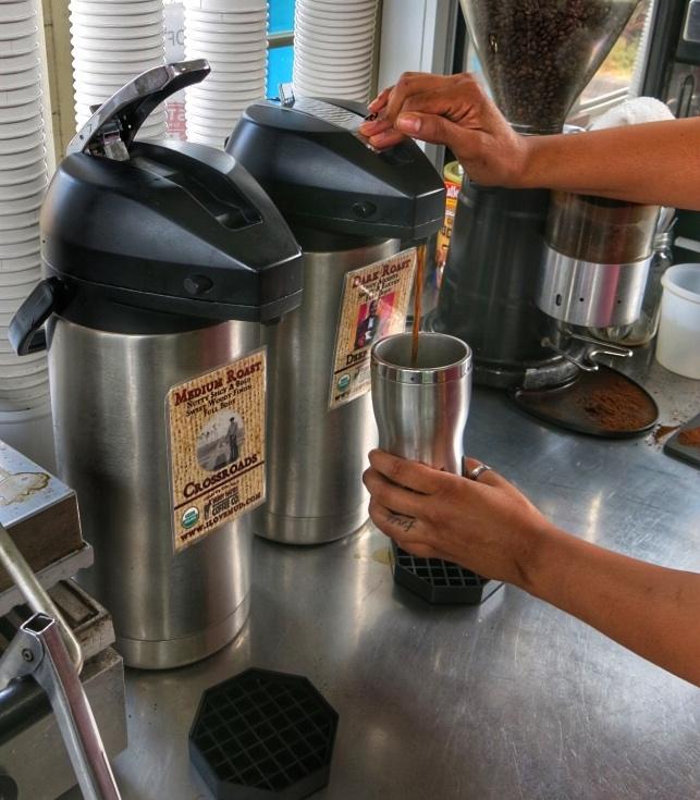 Hot or Iced Organic Coffee