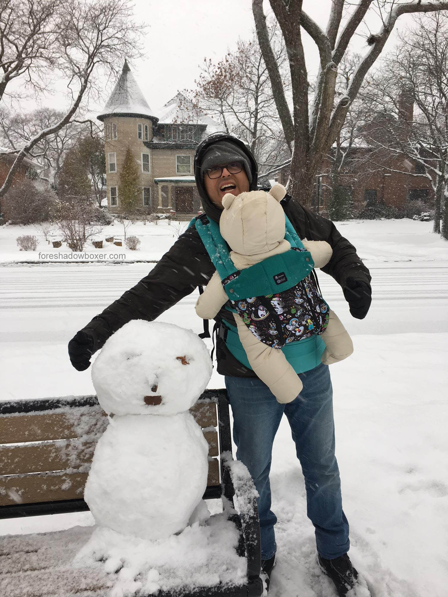 """We might've taken the """"All Seasons"""" part of the Lillebaby carrier name a little too literally here, but we've found it helps keep our baby warm in the winter and cooler in the summer (with an extra panel you can unzip and fold down). Not to mention, it offers the best lumbar support of those we've tried."""