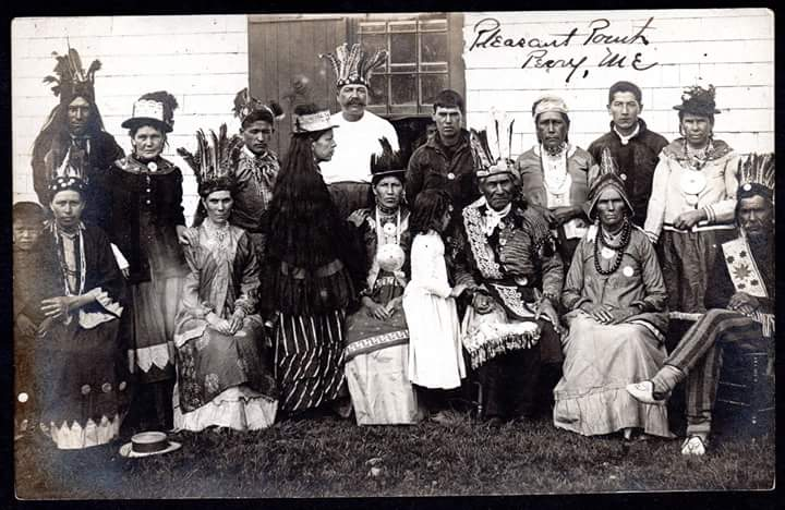 Passamaquoddy Family at Pleasant Point, Maine. (Postcard) Circa 1890. Used with permission by Donald Soctomah.