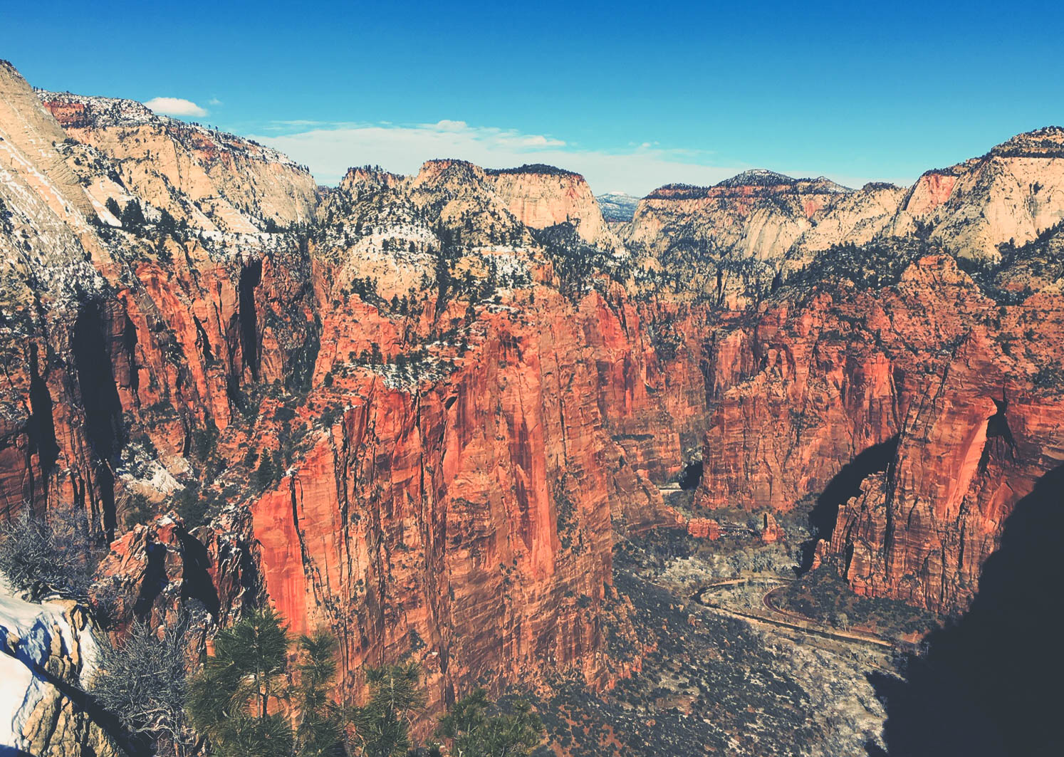 view from the other side of Angel's Landing