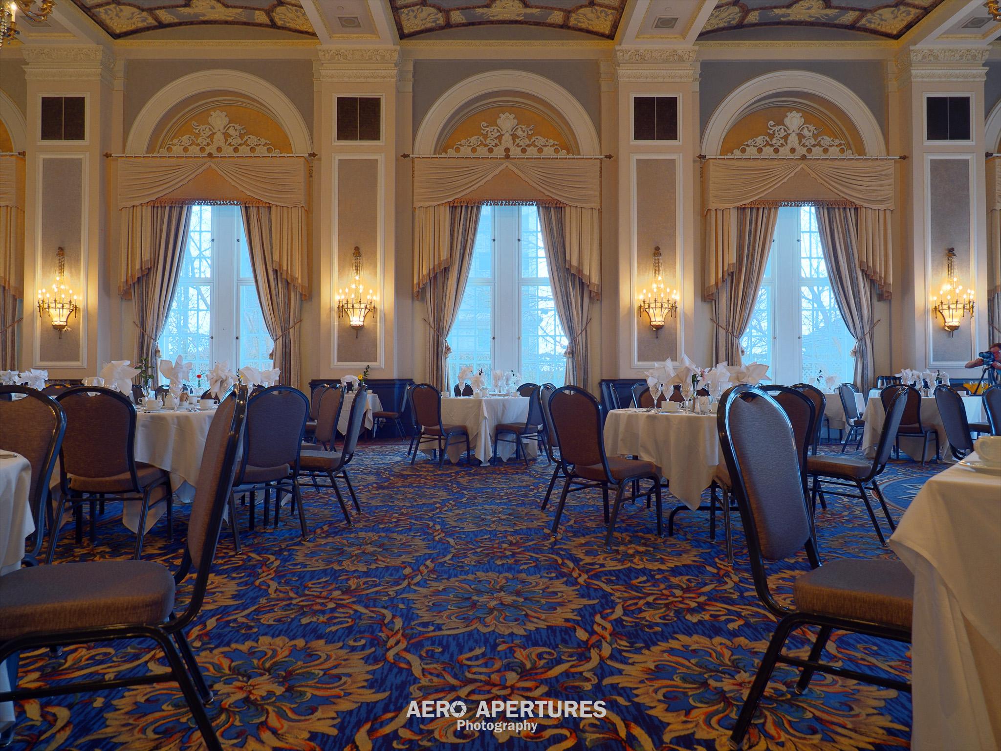 Banquet room at Hotel Macdonald