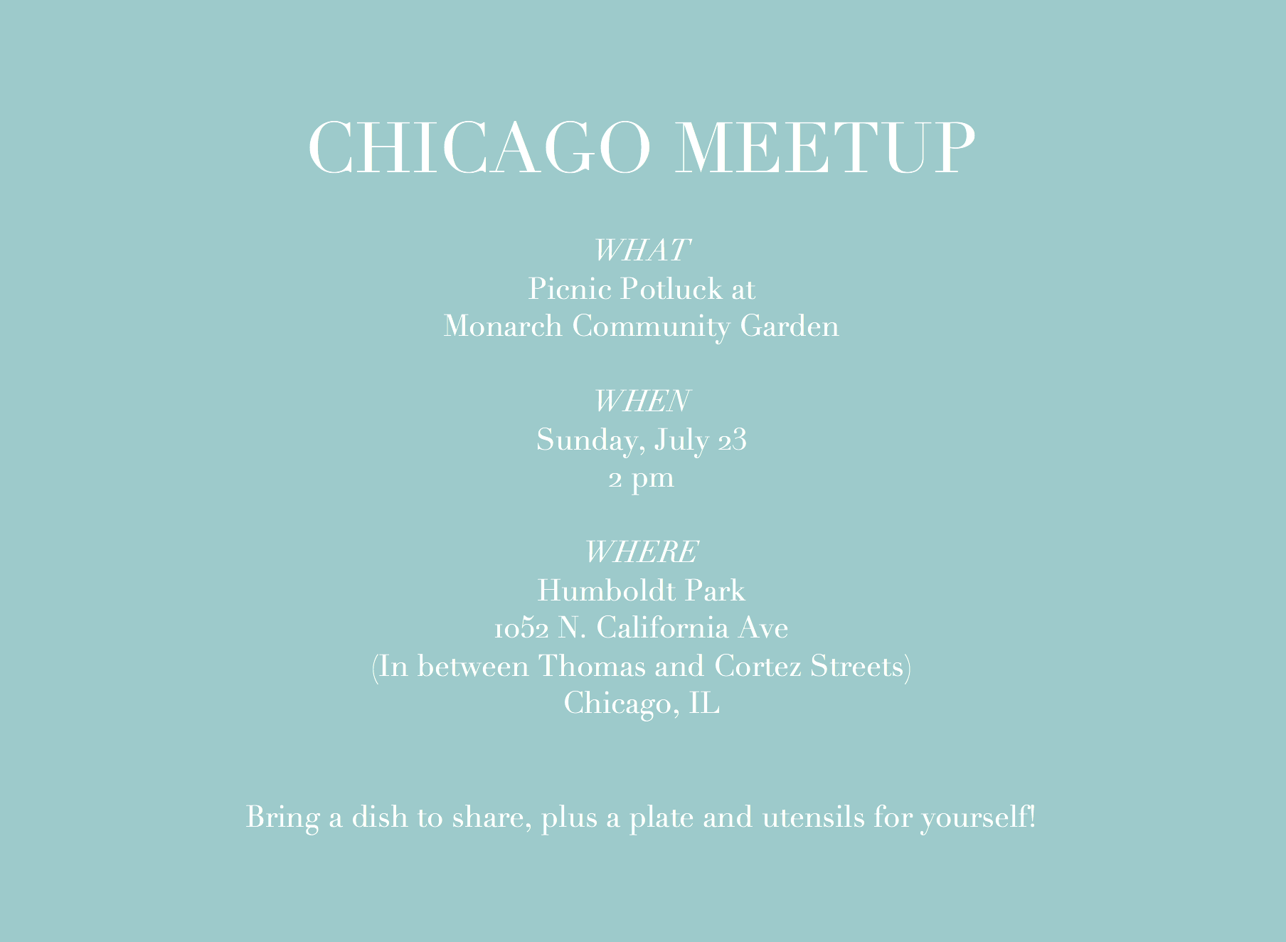 Zero Waste Chicago Meet-up July 2017