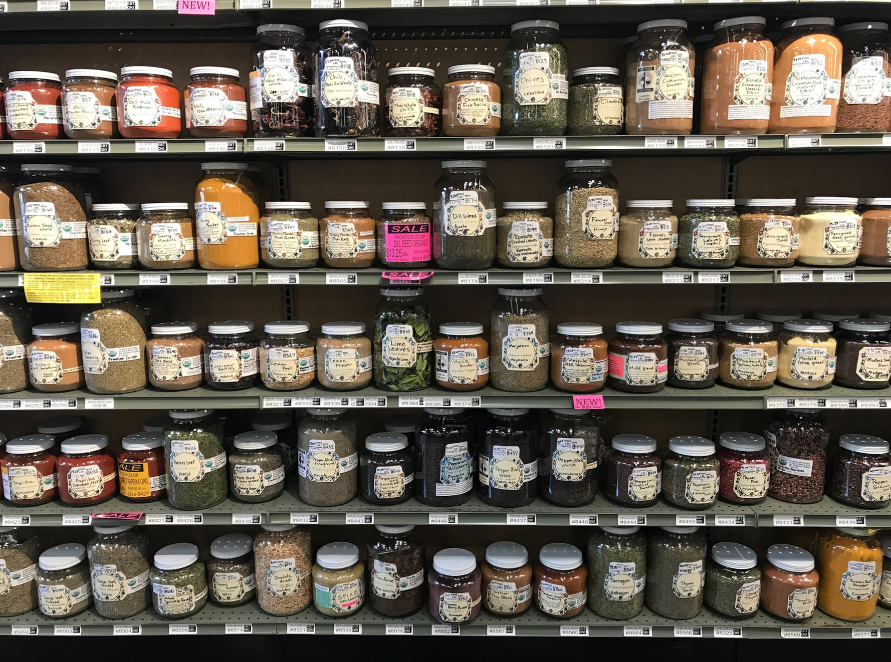 Bulk herbs and spices at Rainbow Grocery | Litterless