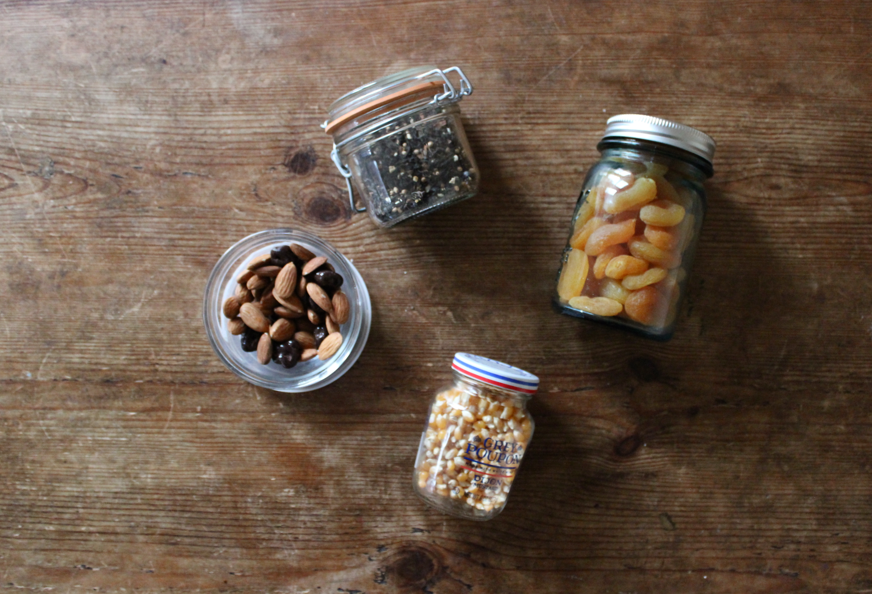 Mismatched glass jars for zero waste, plastic-free pantry and kitchen storage | Litterless