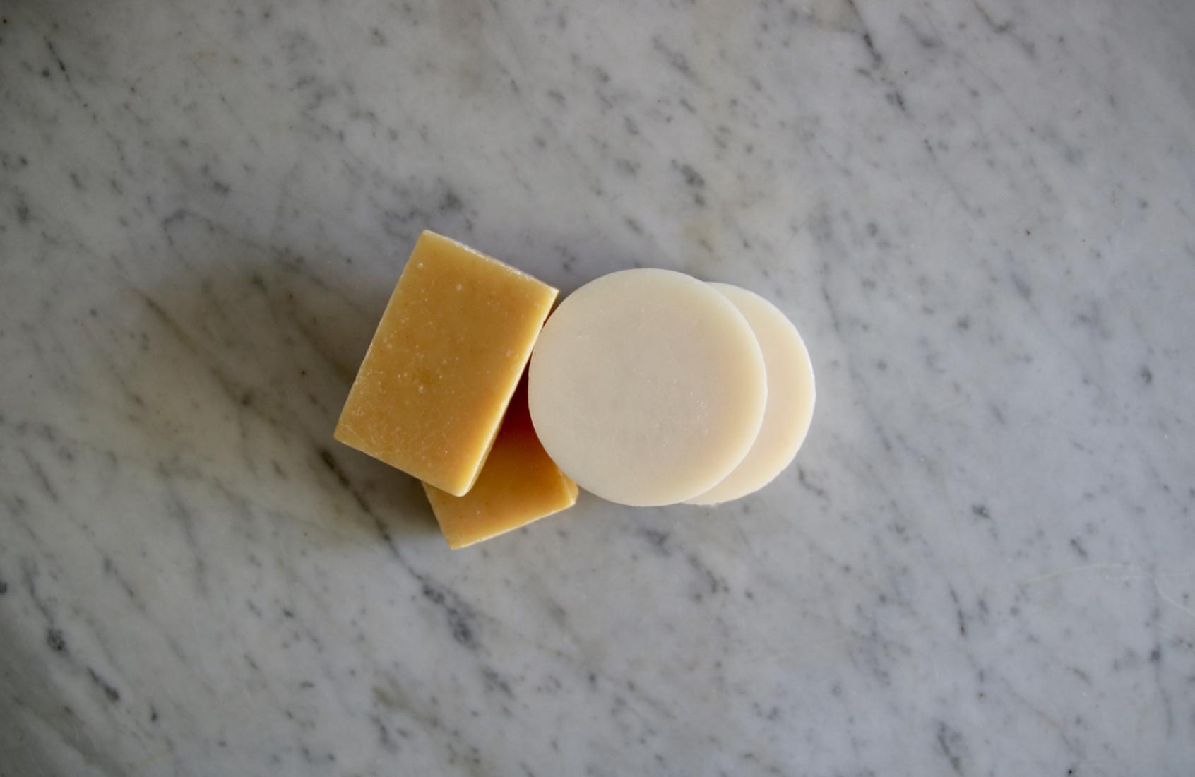 Simple zero waste swap: bar soap instead of pump soap in a plastic bottle | Litterless