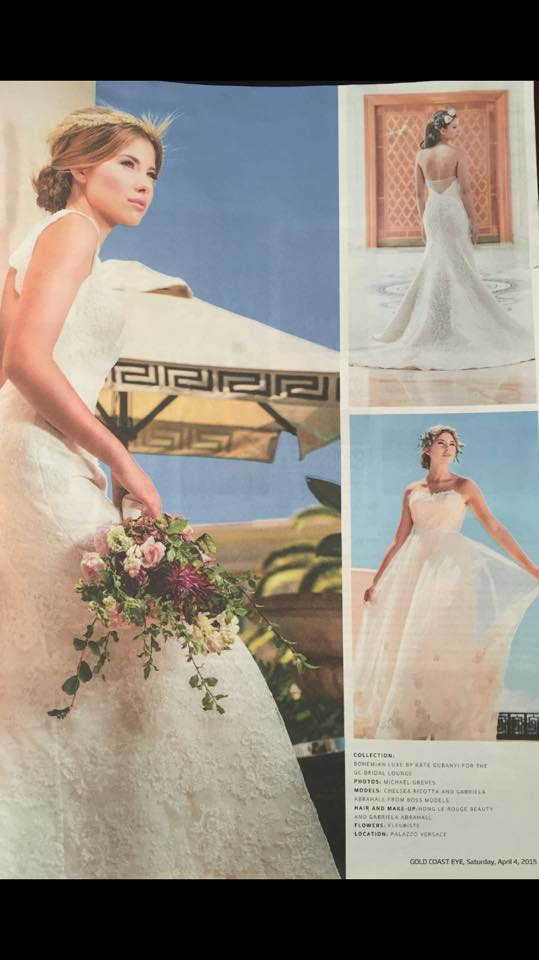 Published work on the Gold Coast Eye Magazine for The GC bridal lounge